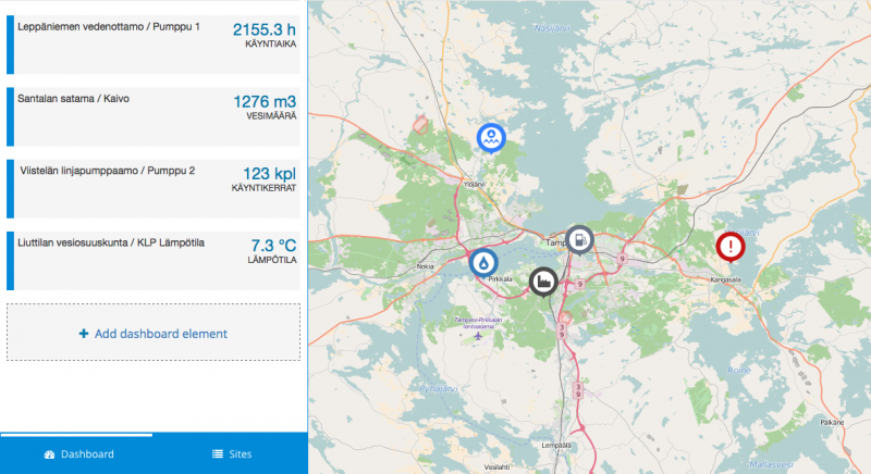The new system makes it possible to view the location and current status of assets at a single glance